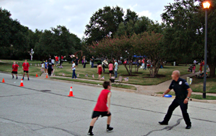 National Night Out Police at play