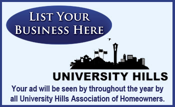 University Hill business ads.
